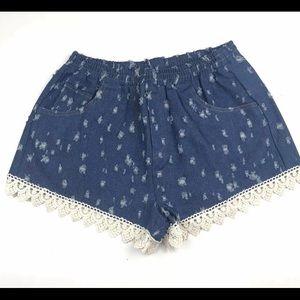 Umgee Denim Distressed Shorts Medium